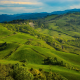 italy, tuscany, hill, field, grass, nature wallpaper