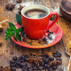 coffee, cup, grains, cinnamon, food wallpaper