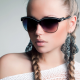 blonde, earrings, sunglasses, plait, juicy lips, face, open mouth, closeup wallpaper