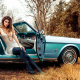 ford mustang, cabrio, cars, model ,women, girl, boots, legs, dress wallpaper
