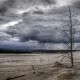 yellowstone national park, clouds, rain, nature, dark clouds wallpaper