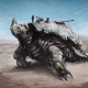 turtle, robot, artwork, digital art, futuristic, mech, machine, desert wallpaper