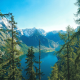 nature, lake, mountains, forest, extreme, rest, berchtesgaden, bavaria, germany wallpaper