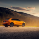 martin cyprian, audi q8, audi, cars, orange wallpaper