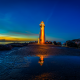 monterey bay, walton lighthouse, santa cruz harbor, lighthouse, sea, sunset wallpaper