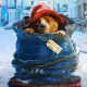 bears, snow, Christmas, blue clothing, Red Hat, cute animals wallpaper