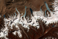 glacier lakes, Glaciers, Bhutan, space wallpaper