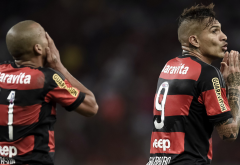 Flamengo, Paolo Guerrero, Emerson Sheik, football, sport wallpaper