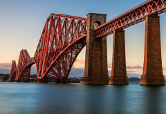 Forth Bridge, Scotland, Edinburgh, bridge, architecture, water wallpaper