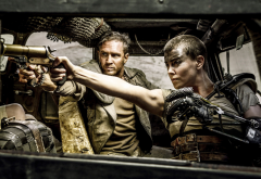 Mad Max, Mad Max: Fury Road, Tom Hardy, Charlize Theron, women, men, actors, actress, movies, gun wallpaper