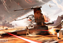 Star Wars, Star Wars: Battlefront, video games, X-wing, stormtrooper, war, spaceship wallpaper