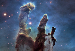 Pillars of Creation, nebula, space, stars wallpaper