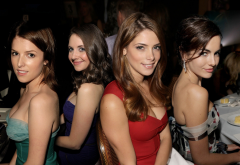 Anna Kendrick, Alison Brie, Ashley Greene, Camilla Belle, celebrity, actress, women, brunette wallpaper