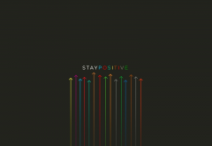 simple, minimalism, digital art, stay positive wallpaper