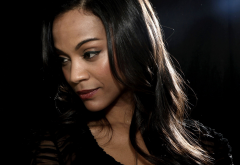 Zoe Saldana, women, brunette, actress wallpaper