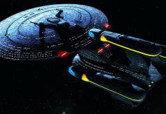 Star Trek, spaceship, futuristic, science fiction, Galaxy X Class wallpaper