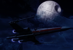 Death Star, Star Wars, artwork, spaceship wallpaper