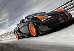 Bugatti Veyron Grand Sport Vitesse, car, Bugatti Veyron, Bugatti, race tracks, motion blur wallpaper