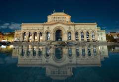 armenia, yerevan, building, reflection, city wallpaper