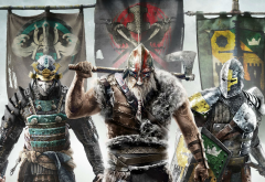 For Honor, Ubisoft, video games, knights, vikings, axe wallpaper