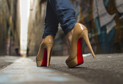 high heels, women, jeans, shoes wallpaper