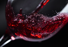 drinking glass, wine, macro wallpaper