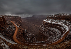 utah, canyon, road, landscape, USA, nature wallpaper