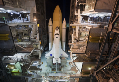 space shuttle, nasa, shuttle, atlantis, rollout, sts-125 wallpaper