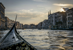 canal, gondola, venice, italy, city wallpaper