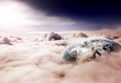 fantasy art, space, planet, clouds wallpaper