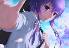 saenai heroine no sodatekata, hyoudou michiru, purple eyes, purple hair, anime girls, anime wallpaper