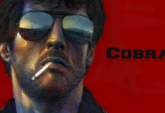 sylvester stallone, cobra, cigarette, glasses, face, actor, movies wallpaper