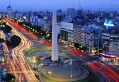 Obelisco , Argentina, Buenos Aires, cities, long exposure wallpaper