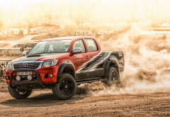 2015 toyota hilux, car, toyota hilux, toyota, dust wallpaper