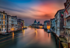 venice, canal, city, italy, long exposure, sunset wallpaper