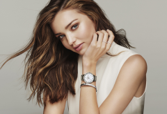 miranda kerr, model, simple background, women, long hairs wallpaper
