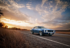 1969 chevrolet camaro ss, car, sunset, chevrolet camaro, chevrolet wallpaper