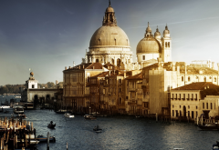 grand canal, venice, italy, cityscape, sunlight, architecture wallpaper