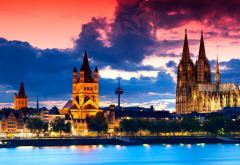 cologne, germany, architecture, gothic architecture, sunset, city wallpaper