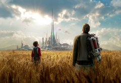 tomorrowland, fantasy, parallel universe, field, movies, george clooney, thomas robinson wallpaper