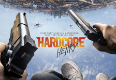 hardcore, hardcore henry, action, poster, city, sky, movies, gun wallpaper