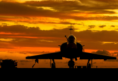 dassault mirage 2000, mirage 2000, multi-purpose fighter, aircraft, sunset wallpaper
