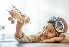 toy, aircraft, helmet, glasses, smile, children, boy wallpaper