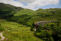 scotland, nature, rails, bridge, railway wallpaper
