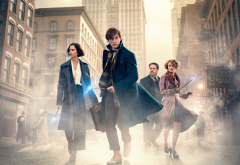 fantastic beasts and where to find them, movies, city, eddie redmayne, katherine waterston, ezra miller wallpaper