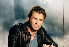 chris hemsworth, jacket, men, fog, actor wallpaper