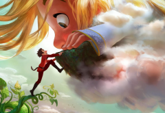 gigantic, cartoons, movies, clouds wallpaper