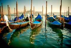venice, channel, gondola, italy, water, world, city wallpaper