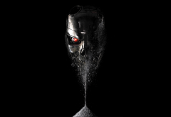 terminator: genisys, sand, movies, art, terminator wallpaper
