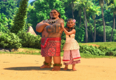 moana, chief tui, cartoons, movies, tui, sina wallpaper